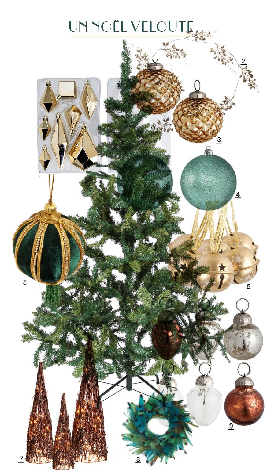 Le sapin de Noël : un décor velouté
