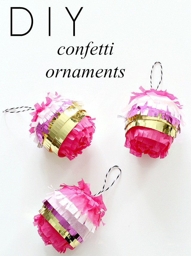 Make It | DIY Confetti Ornaments // Bliss at Home