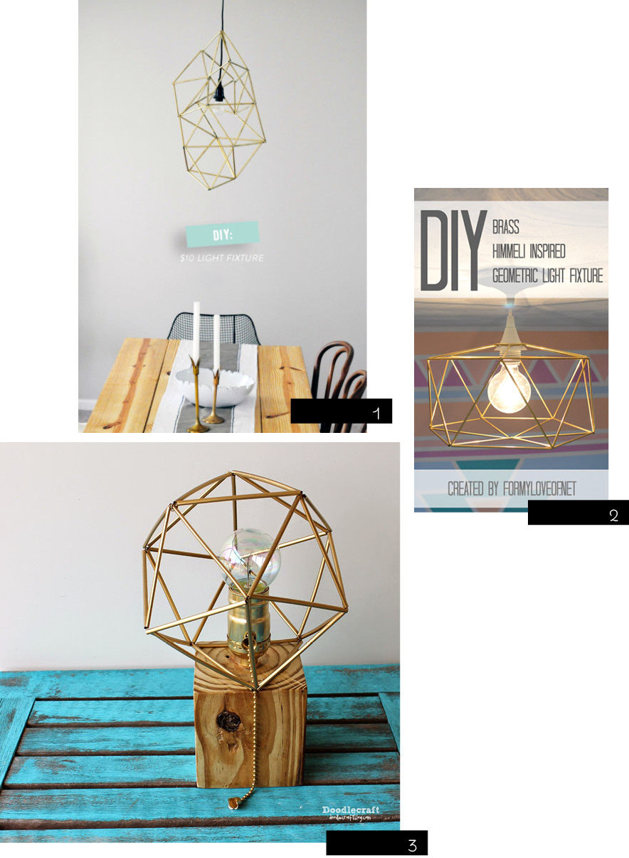 diy himmeli light fixture