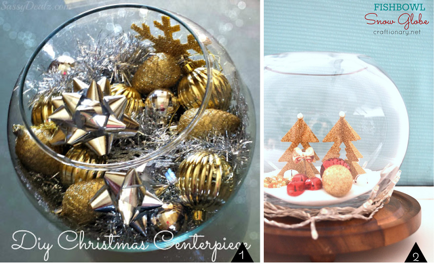 Upcycled Fish Bowls : Christmas projects