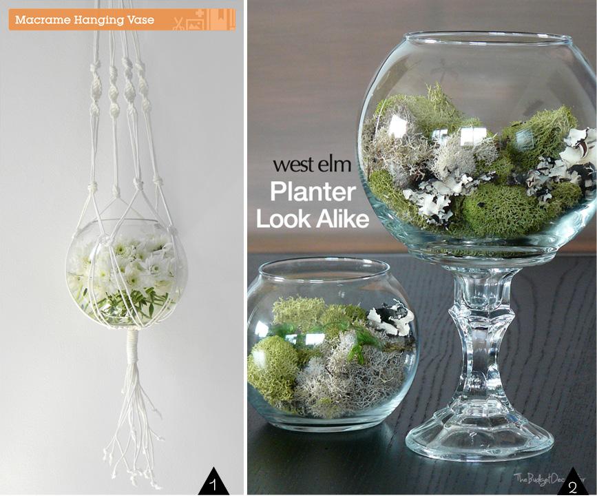 Upcycled Fish Bowls : vase & planter