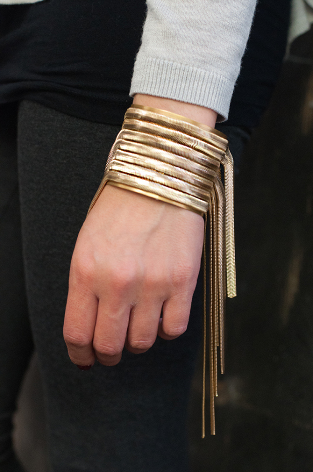 DIY: METALLIC CHAIN CUFF // M&J blog