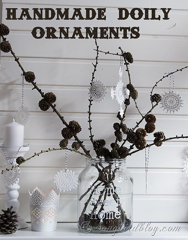 easy-to-make-doily-crochet-ornaments // Songbird