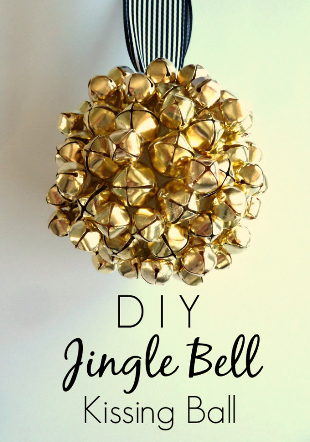 DIY Jingle Bell Kissing Ball + Blog Hop // Bliss at Home
