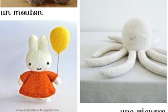 6 modèles de doudous au tricot