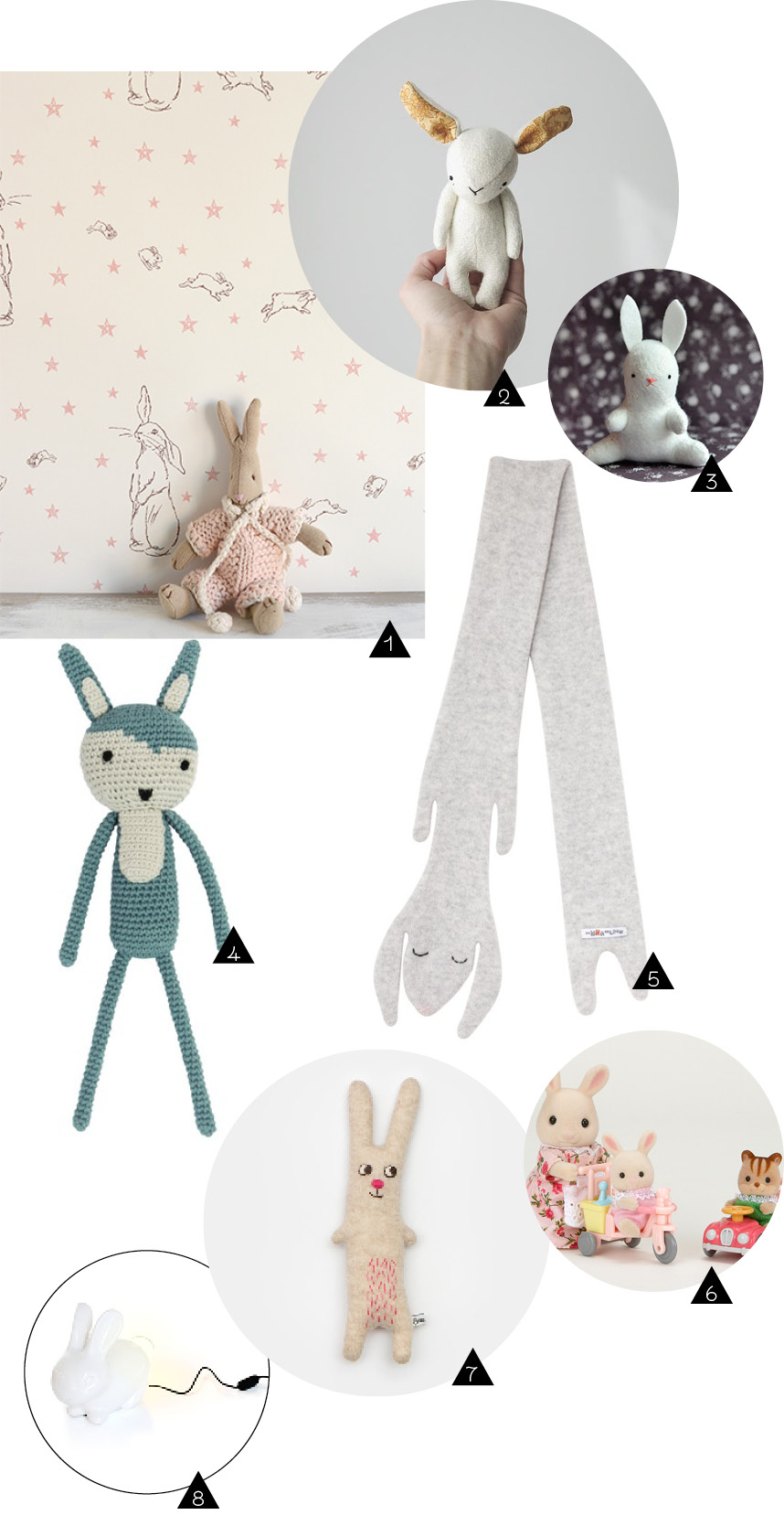 shopping kids decor lapin