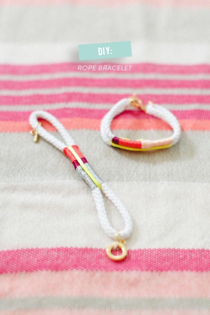 DIY Rope Bracelet // Style me pretty