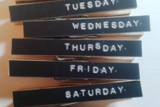 Days of the Week Peg Fridge Magnets[9]