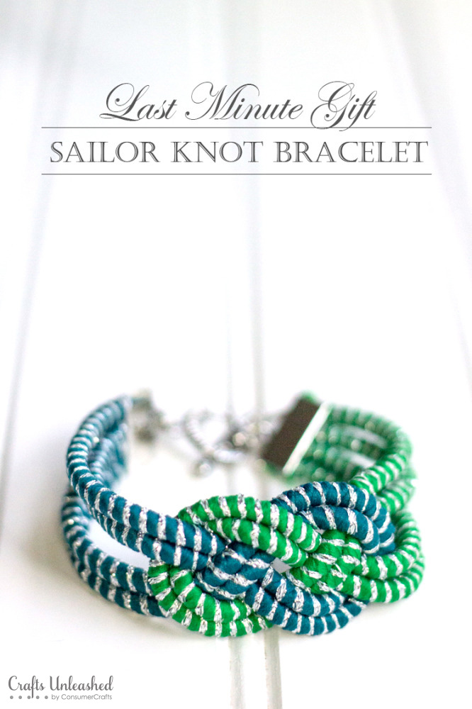 Last Minute Gift Idea: Sailor Knot Bracelet DIY // Crafts Unleashed