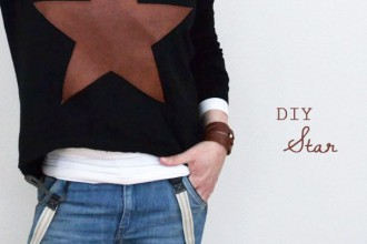 diy Leather Star Patch