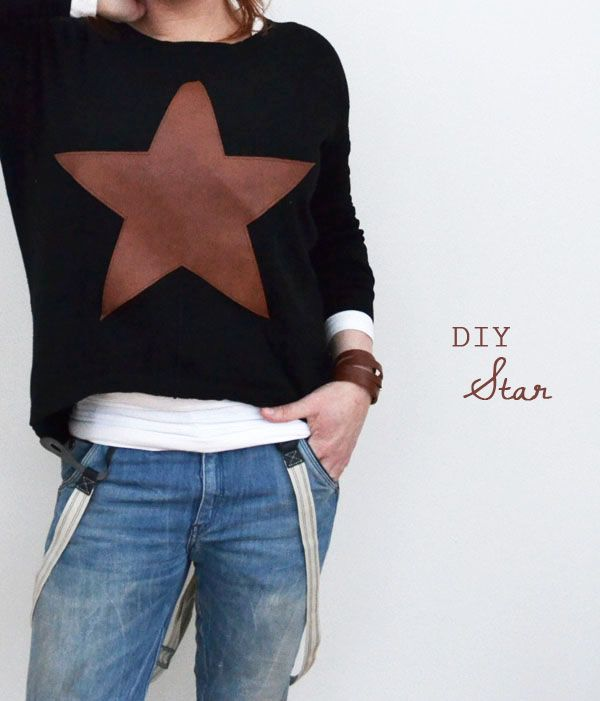 diy leather star
