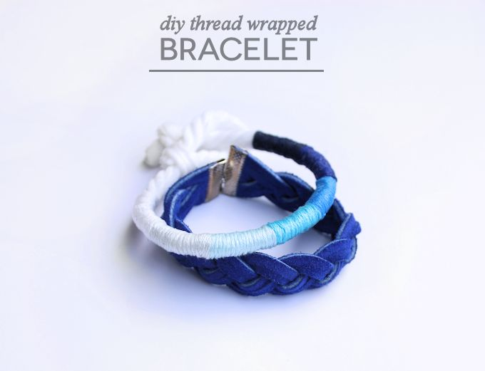 THREAD WRAPPED DIY BRACELET // Mod Podge