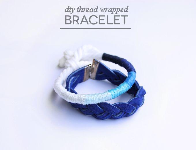 THREAD WRAPPED DIY BRACELET // Mod Podge