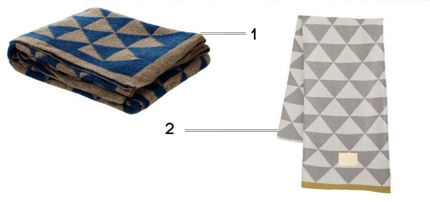 plaid couvre lit géometrique
