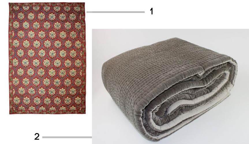 plaid couvre lit indienne