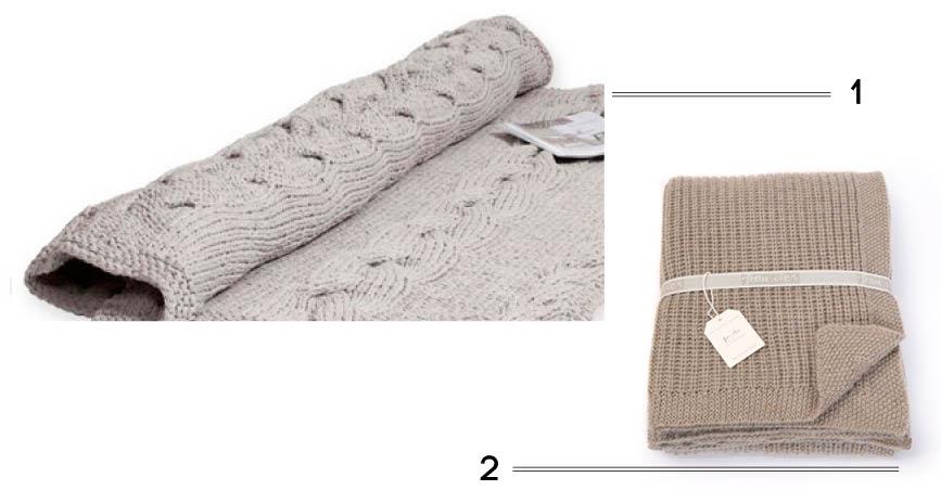 plaid & couvre-lit en laine