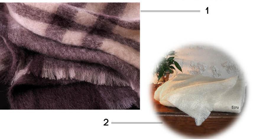 plaid couvre lit mohair
