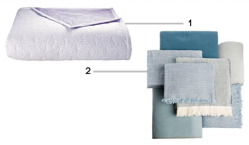 plaid couvre lit pastel