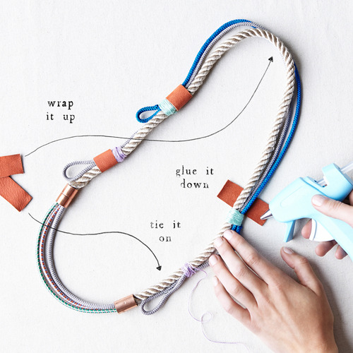 Make it Happen: A Rope Necklace, Three Ways // Anthro blog
