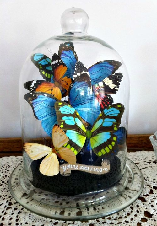 DIY Butterfly Bell-Jar // Ruby Ju Events