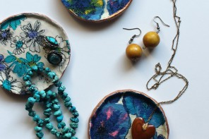 DIY TUTORIAL – FABRIC DECOUPAGE JEWELRY DISHES // Sew DIY