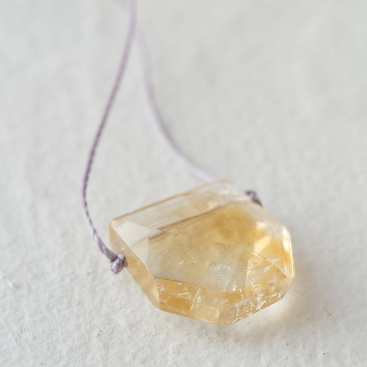 Citrine necklace // Terrain