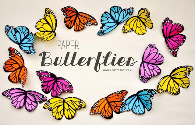 mariposas de papel //