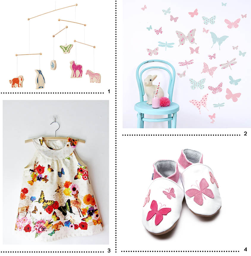 Shopping papillons enfant printemps