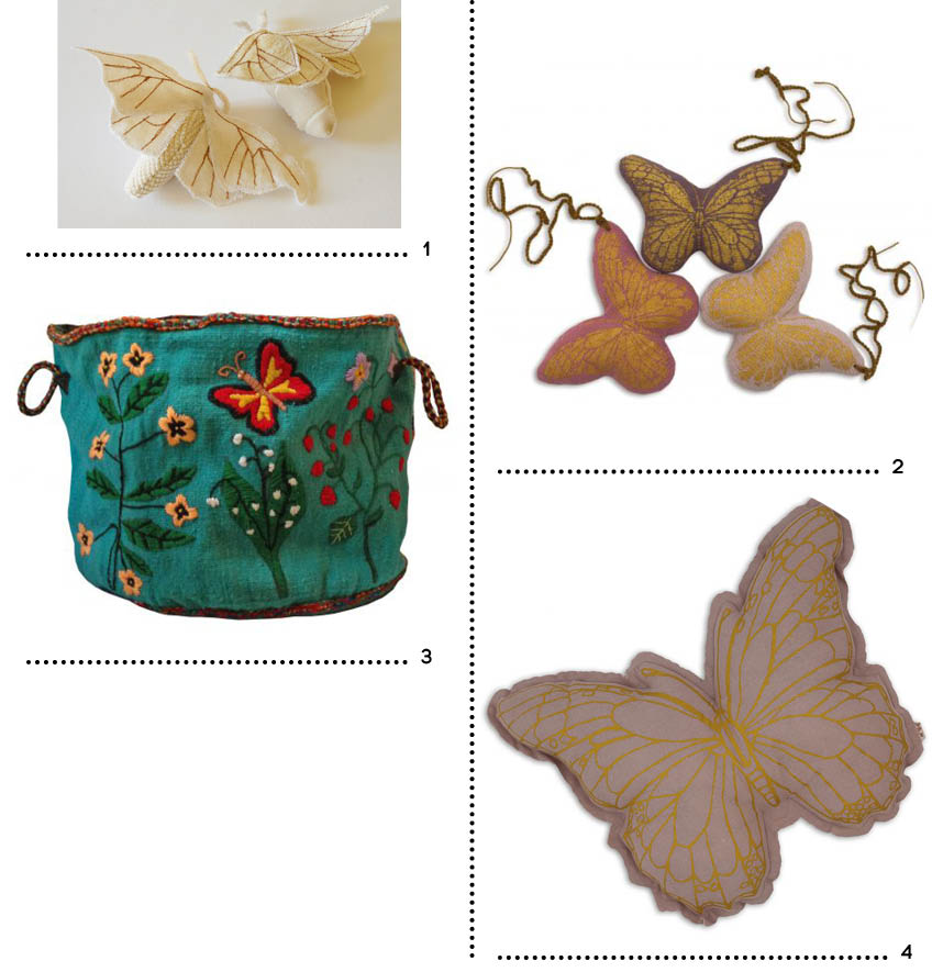 Shopping papillons enfant ocre