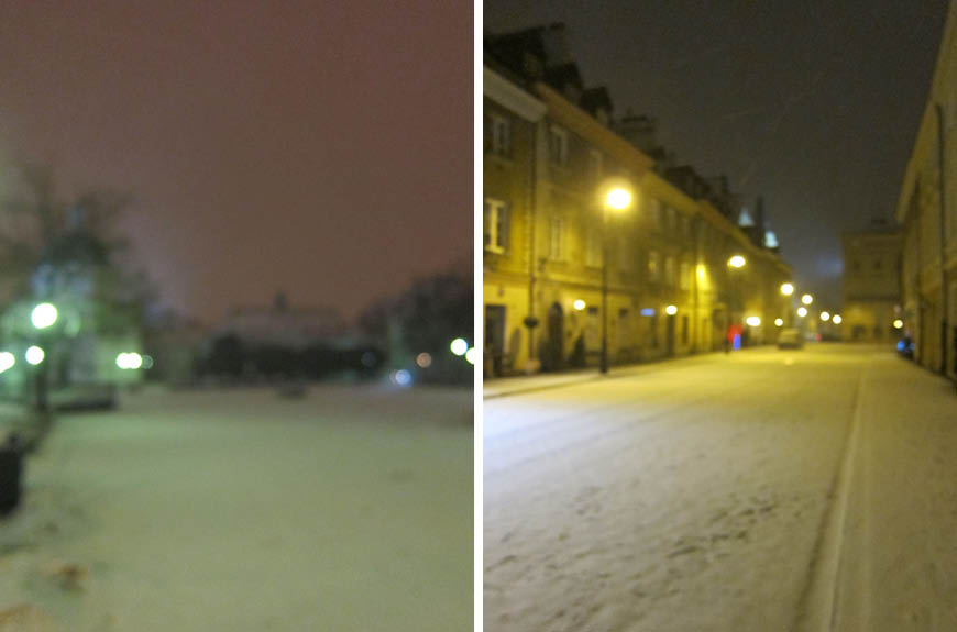 Varsovie sous la neige