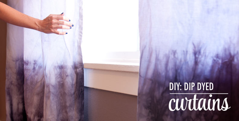 DIY-Dip-Dye-Curtains //The chic site