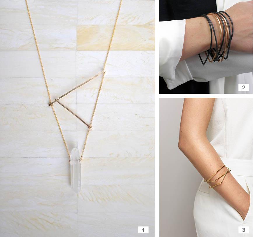 bijoux or geometrique