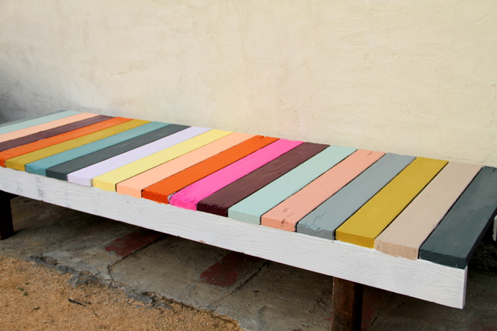 DIY - CHRISTINA'S COLORFUL BENCH OR THE PRETTIEST THING EVER