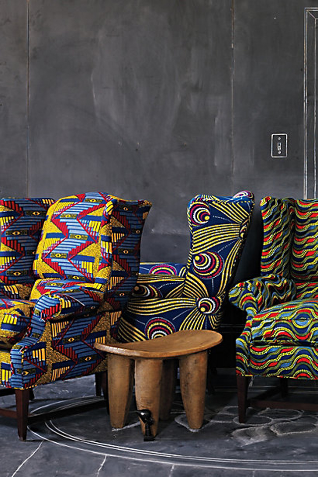 african-print-chairs-home inspiration