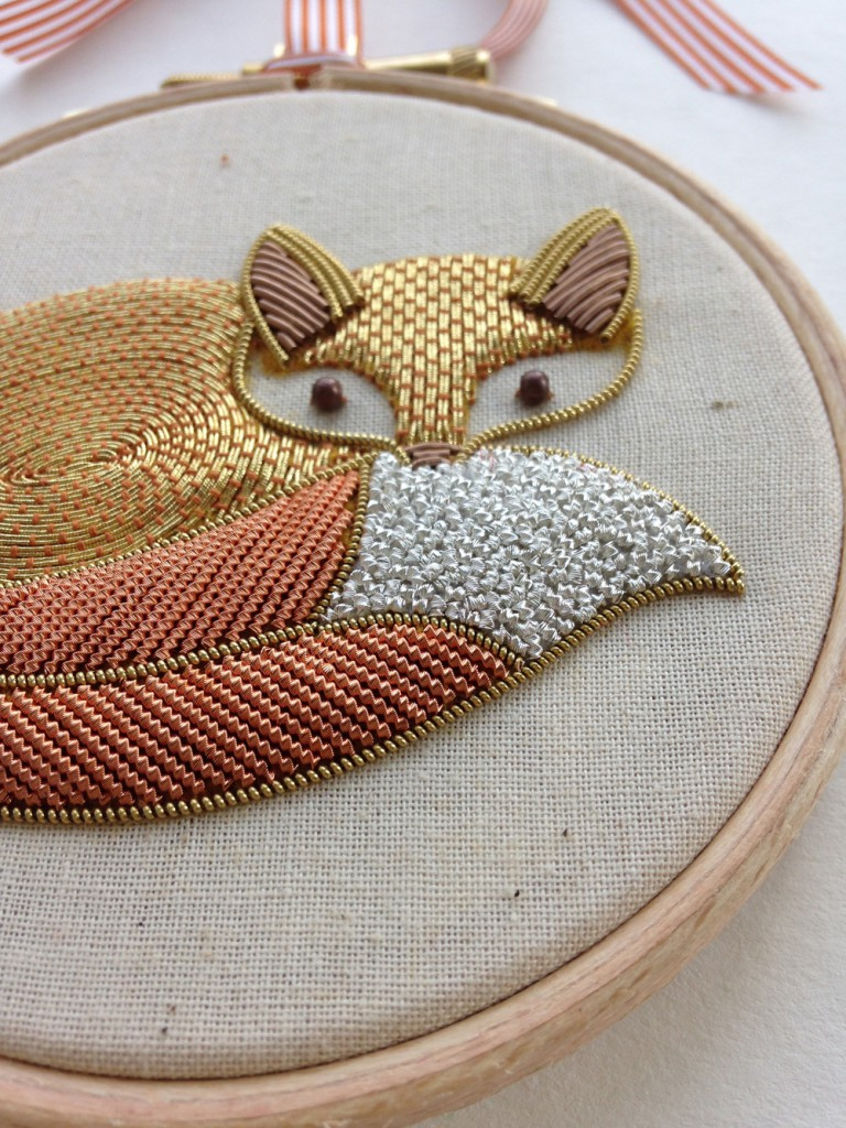 foxy -closeup // Royal School of Needlework