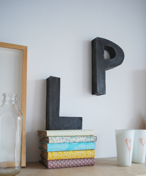 DIY WITH BOOKHOU: PLASTER LETTERS PROJECT // Poppytalk