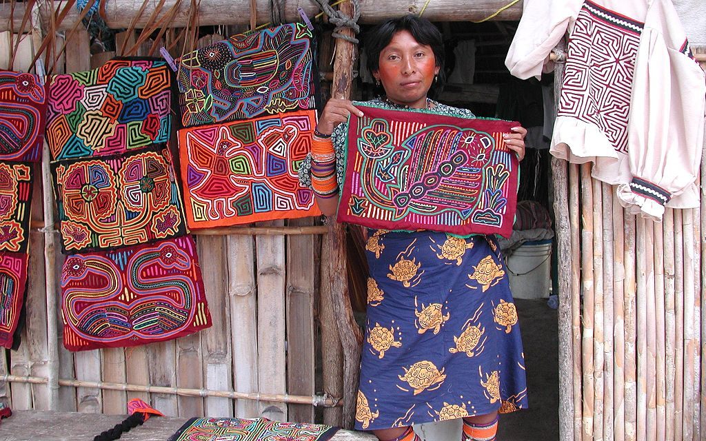 Kuna Woman With Molas