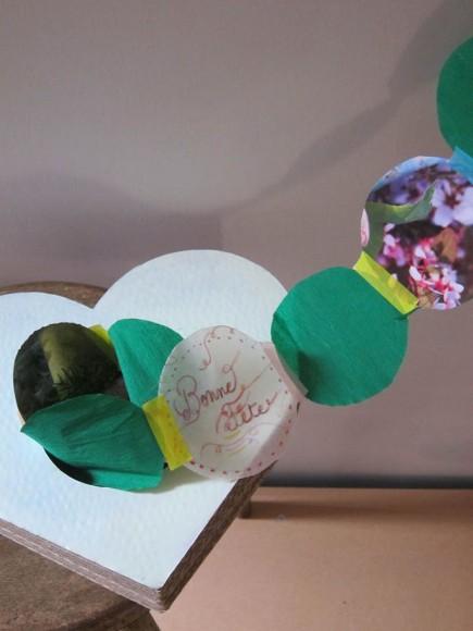 DIY : la guirlande de fête des mères dans un coeur