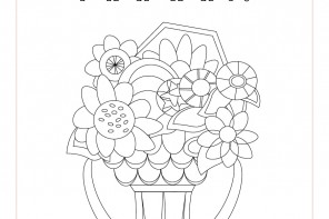 Coloring card // Carte de coloriage - Fête des mères @plumetismagazine