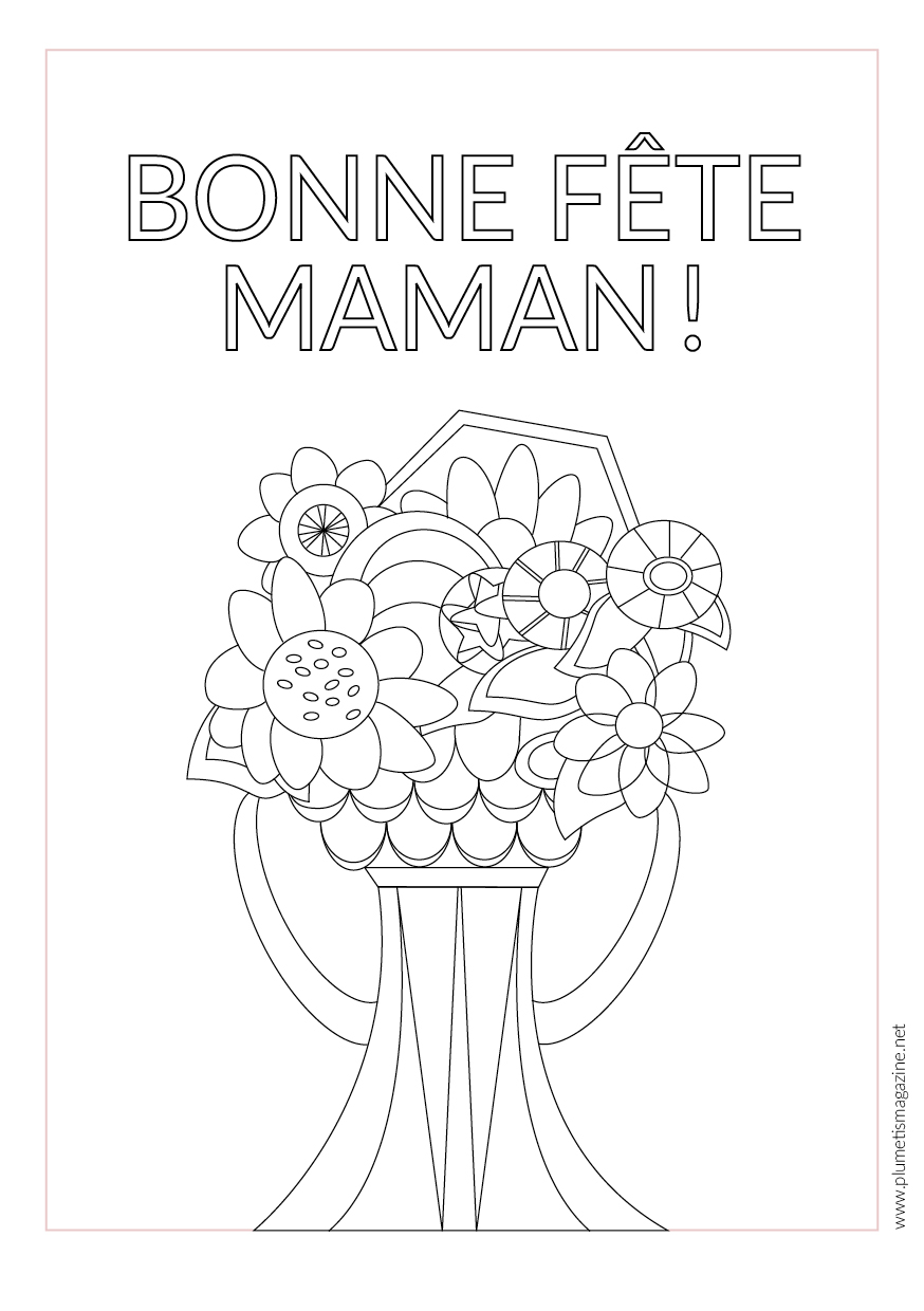 Print a card for Mother's Day // Carte de coloriage - Fête des mères @plumetismagazine
