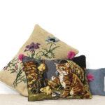 Les coussins en tapisserie