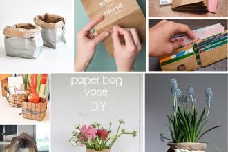 DIY avec des sacs en papier // Upcycled brown paper bags