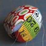 Fabric Easter eggs par Retromama