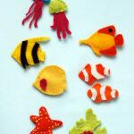 Felt aquarium magnets par The Purl Bee