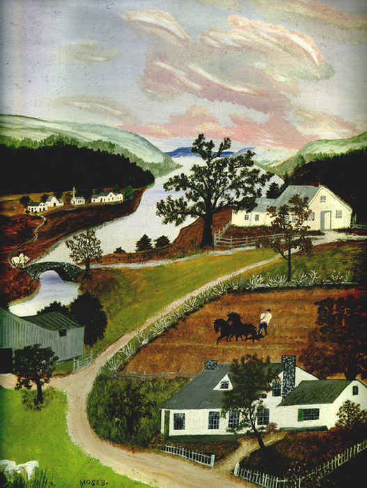 Grandma Moses // the spring in evening