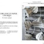 La guirlande en papier à musique par Sandra Laplagne
