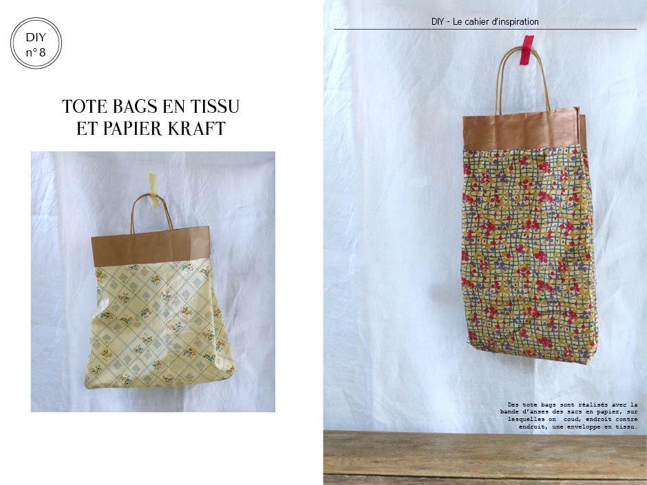 Les sacs en papier et tissus vintage