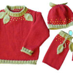 Le pull fraise d'Elodie Tricote