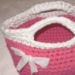 Le sac à main en fettucia de Lanaverde rosa primavera