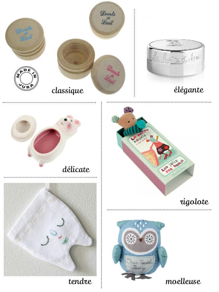 Shopping : boîtes à dents de lait